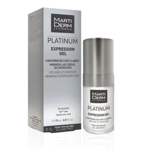 MARTIDERM EXPRESSION GEL PLATINUM OJOS/LABIOS 15 ML