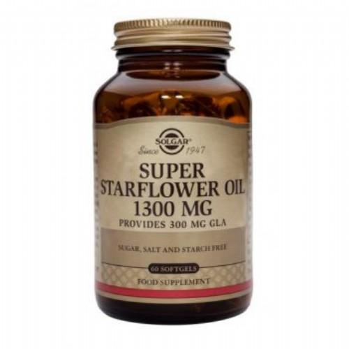 Solgar aceite borraja 1300 60cap (super starflow
