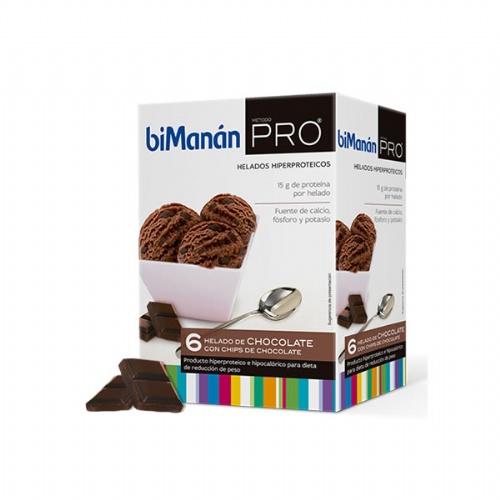 Bimanan metodo pro helados - hiperproteica e hipocalorica (chocolate 6 sobres)