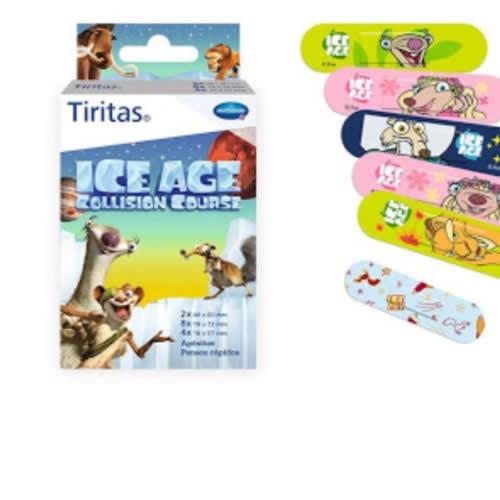 Tiritas kids - aposito adhesivo (ice age 3 tamaños 14 u)