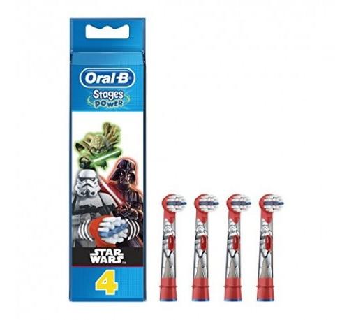 Cepillo dental electrico infantil recambios - oral-b stages (star wars 4 recambios)