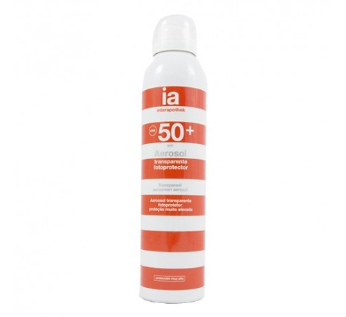 Interapothek fotoprotec spf 50+ aerosol transp (250 ml)