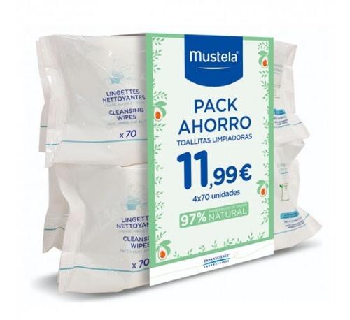 Mustela pack ahorro 4 x 70 toallitas