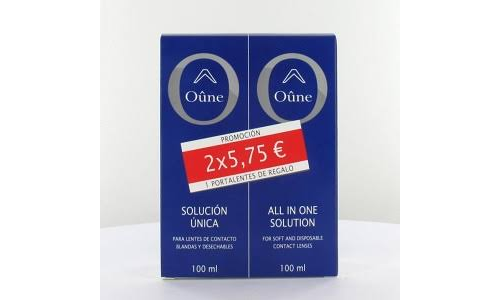 Oûne lentes de contacto blandas - solucion unica (100 ml 2 u)