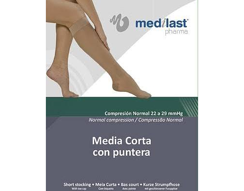 Media corta (a-d) comp normal - medilast con puntera (beige t - g)
