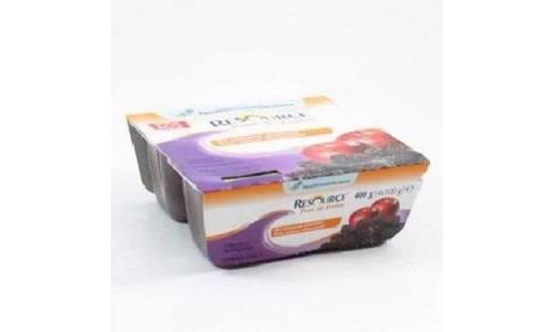 Resource pure de frutas (100 g 4 tarrinas ciruela y manzana)