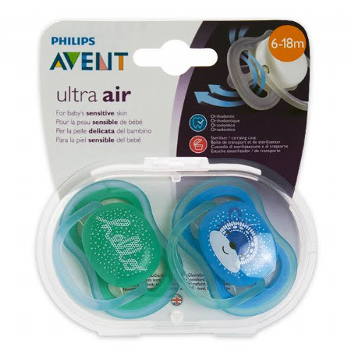 Chupete silicona - philips avent ultra air (6 - 18 m niño 2 chupetes)