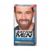 Just for men bigote y barba - gel colorante (30 cc castaño oscuro)