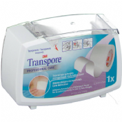 Esparadrapo hipoalergico - transpore (plastic portar 5 m x 2,5 cm)