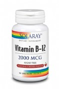 Solaray vit b12 2000 mcg 90 comp subling