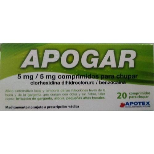 APOGAR 5MG/5MG COMPRIMIDOS PARA CHUPAR , 20 comprimidos