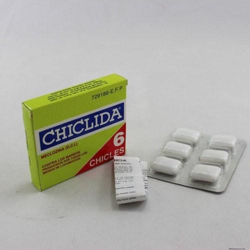CHICLIDA 25 mg COMPRIMIDOS PARA CHUPAR , 6 pastillas