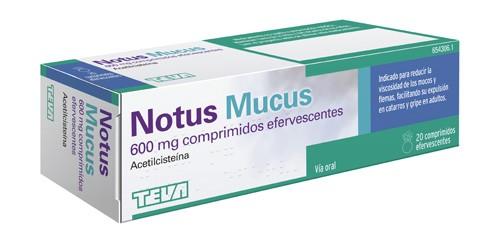 NOTUS MUCUS 600 mg COMPRIMIDOS EFERVESCENTES 20 comprimidos