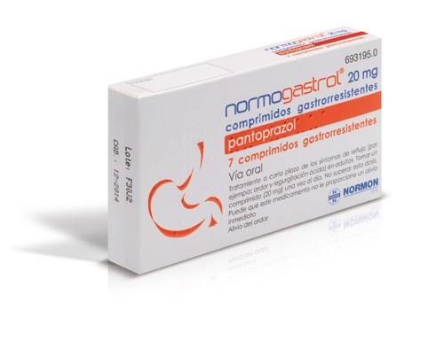 NORMOGASTROL 20 mg COMPRIMIDOS GASTRORRESISTENTES EFG, 7 comprimidos