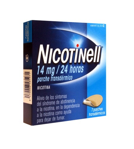 NICOTINELL 14 mg/24 HORAS PARCHE TRANSDERMICO, 7 parches