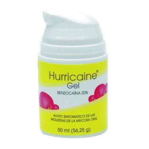 HURRICAINE  200 mg/g GEL BUCAL , 1 frasco de 50 ml