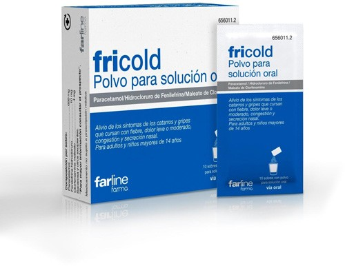 FRICOLD  POLVO PARA SOLUCION ORAL , 10 sobres