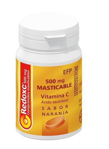 REDOXC 500 mg COMPRIMIDOS MASTICABLES , 30 comprimidos