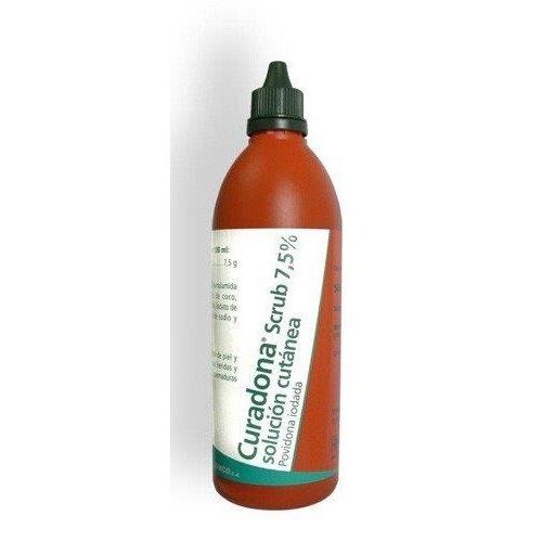 CURADONA  SCRUB 7.5% SOLUCION CUTANEA, 10 frascos de 500 ml