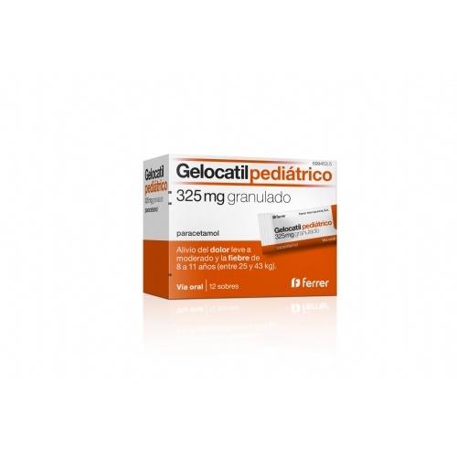 Gelocatil pediátrico 325 mg granulado , 12 sobres