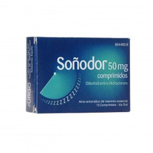 SOÑODOR 50 mg COMPRIMIDOS, 10 comprimidos