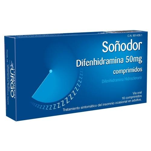 SOÑODOR 50 mg COMPRIMIDOS, 16 comprimidos
