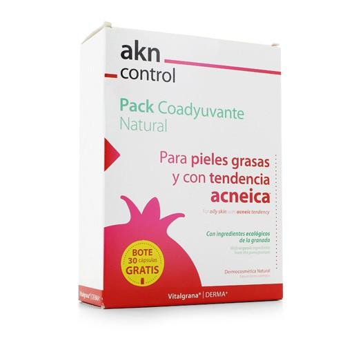 Crema hidratante y equilibrante akn control+ - dermopurificante akn control mousse (pack 50 ml + 150