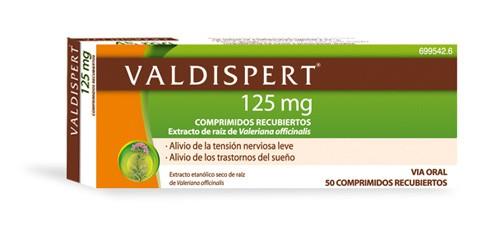 VALDISPERT 125 mg COMPRIMIDOS RECUBIERTOS , 50 comprimidos