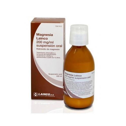 MAGNESIA LAINCO 200 MG/ML SUSPENSION ORAL , 220 ml