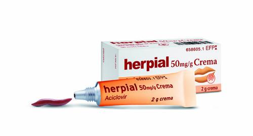 HERPIAL 50 mg/g CREMA , 1 tubo de 2 g