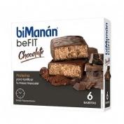 Bimanan metodo pro barrita chocolate - hiperproteica e hipocalorica (6 barritas)