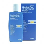 ZINCATION PLUS 10 mg/4 mg/ml CHAMPU , 1 frasco de 200 ml