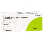 NORLEVO 1,5 mg COMPRIMIDO , 1 comprimido