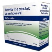 MUCOVITAL 1,5 GRANULADO PARA SOLUCION ORAL , 20 sobres