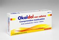 OKALDOL CON CAFEINA COMPRIMIDOS MASTICABLES, 12 comprimidos