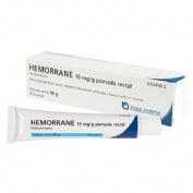 HEMORRANE 10 mg/g POMADA RECTAL , 1 tubo de 30 g