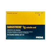 SARGISTHENE 1 g SOLUCION ORAL, 20 ampollas bebibles de 5 ml