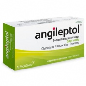ANGILEPTOL COMPRIMIDOS PARA CHUPAR SABOR MENTA-EUCALIPTO, 30 comprimidos