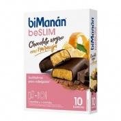 biManán® Sustitutive sabor chocolate y naranja 8 barritas