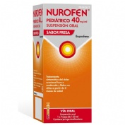 NUROFEN PEDIATRICO 40 MG/ML SUSPENSION ORAL SABOR FRESA, 1 frasco de 150 ml
