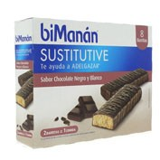 Bimanan barrita chocolate negro y blanco (40 g  8 bar)